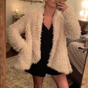 Faux fur free people jacket BARELY WORN
